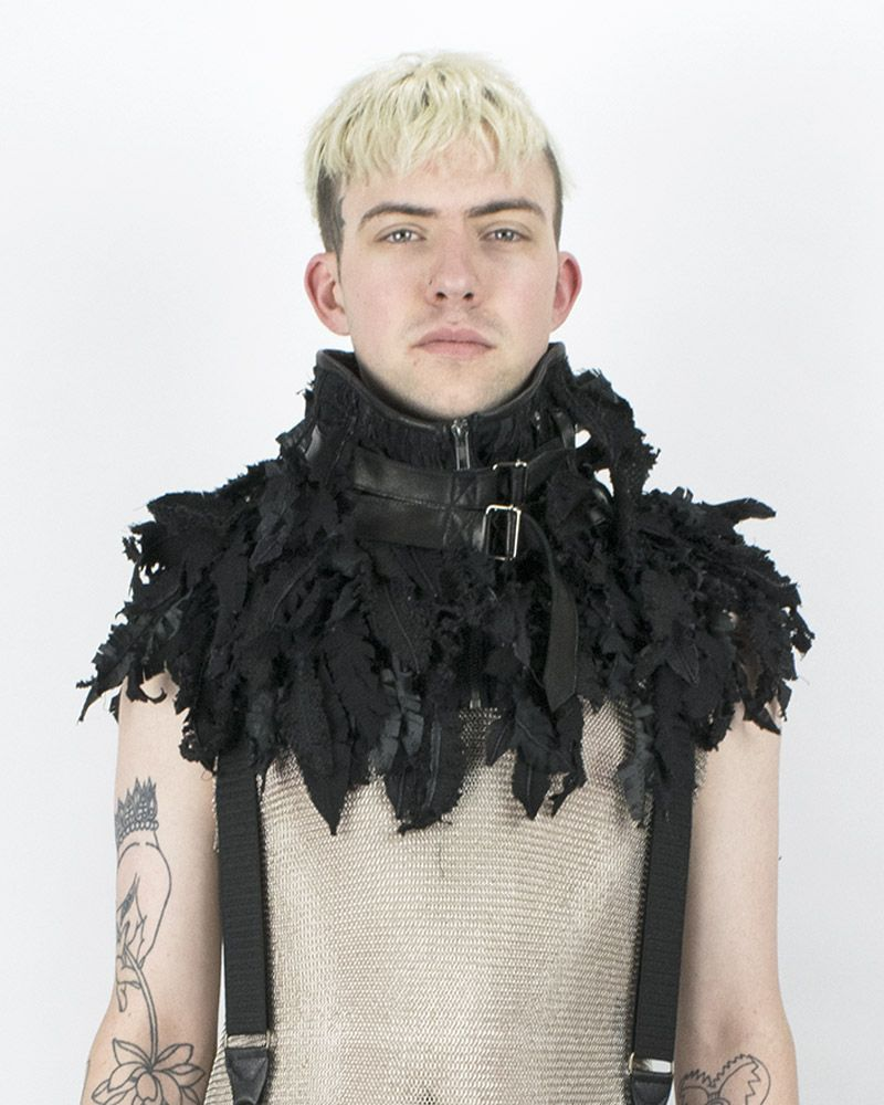 """FEATHERED"" NECKPIECE"