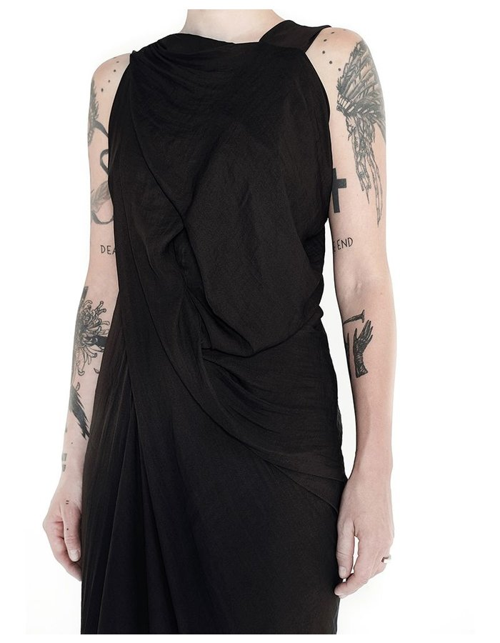 139DEC DRAPED BACK DRESS