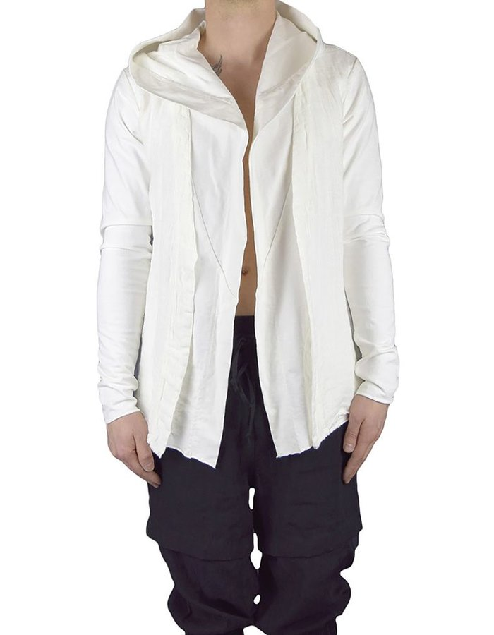 ANDREA YA'AQOV LINEN AND COTTON CARDIGAN :WHT