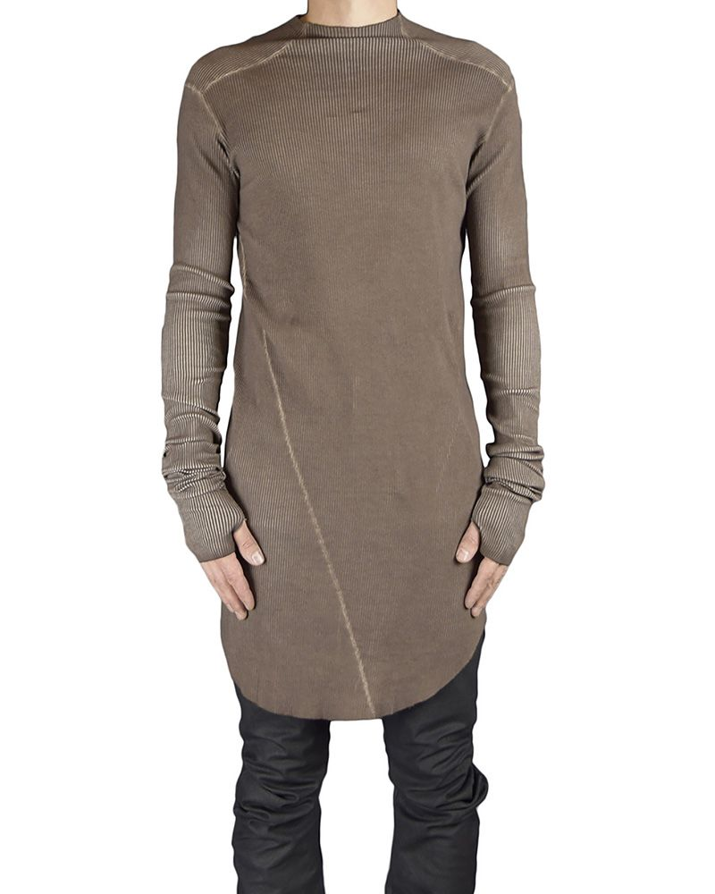 RIBBED TURTLE NECK JERSEY : RUST