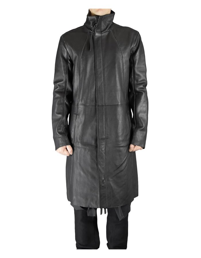 ARMY OF ME LAYERED LEATHER COAT 97