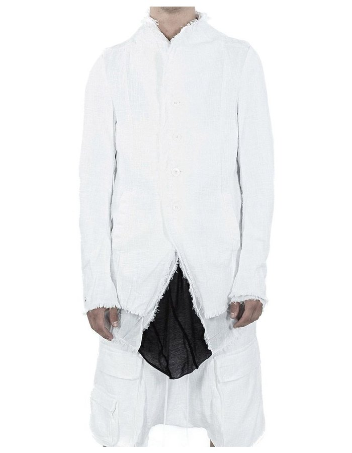 ARMY OF ME LAYERED BUTTON UP JACKET  WHITE
