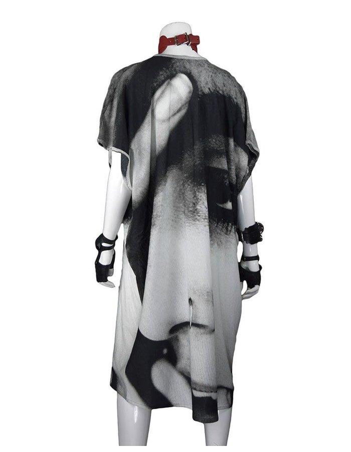 BARBARA BOLOGNA PRINT V TUBE DRESS