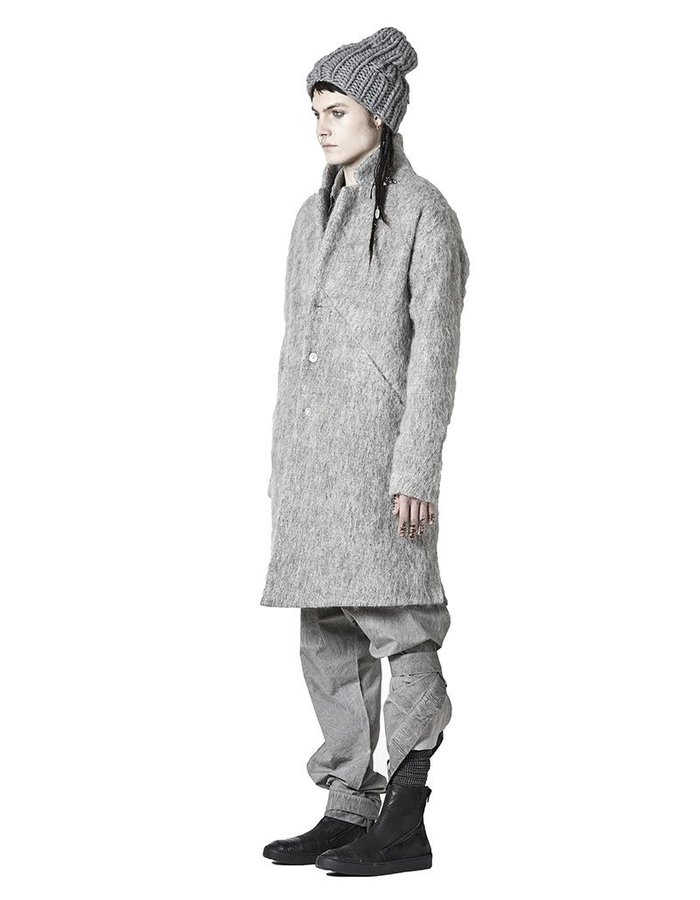 BARBARA I GONGINI ALPACA COAT : GRAY