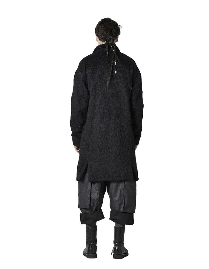 BARBARA I GONGINI ALPACA COAT : BLK
