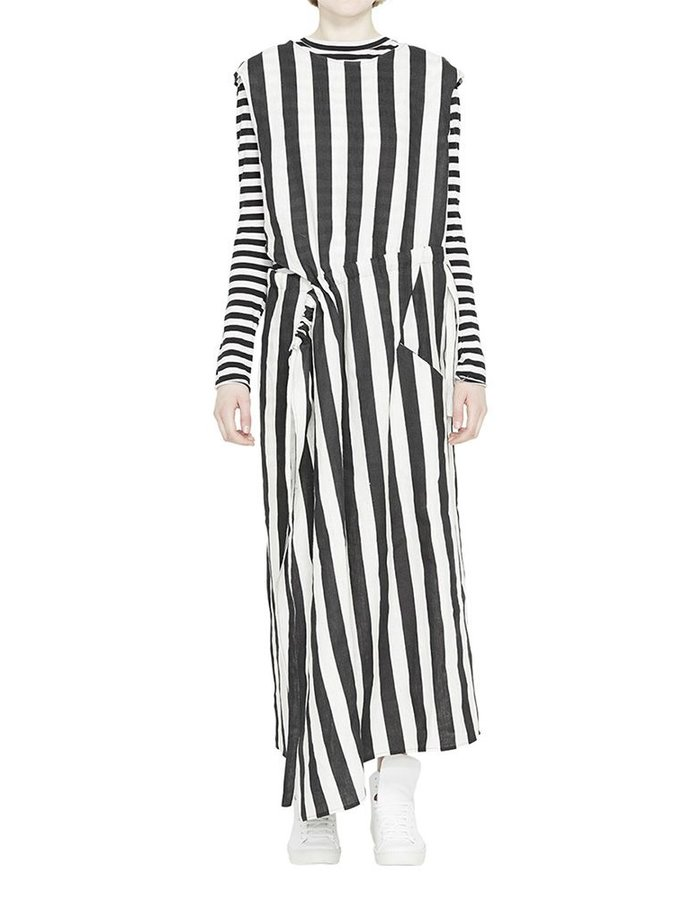 BARBARA I GONGINI MULTI WAY STRIPED DRESS