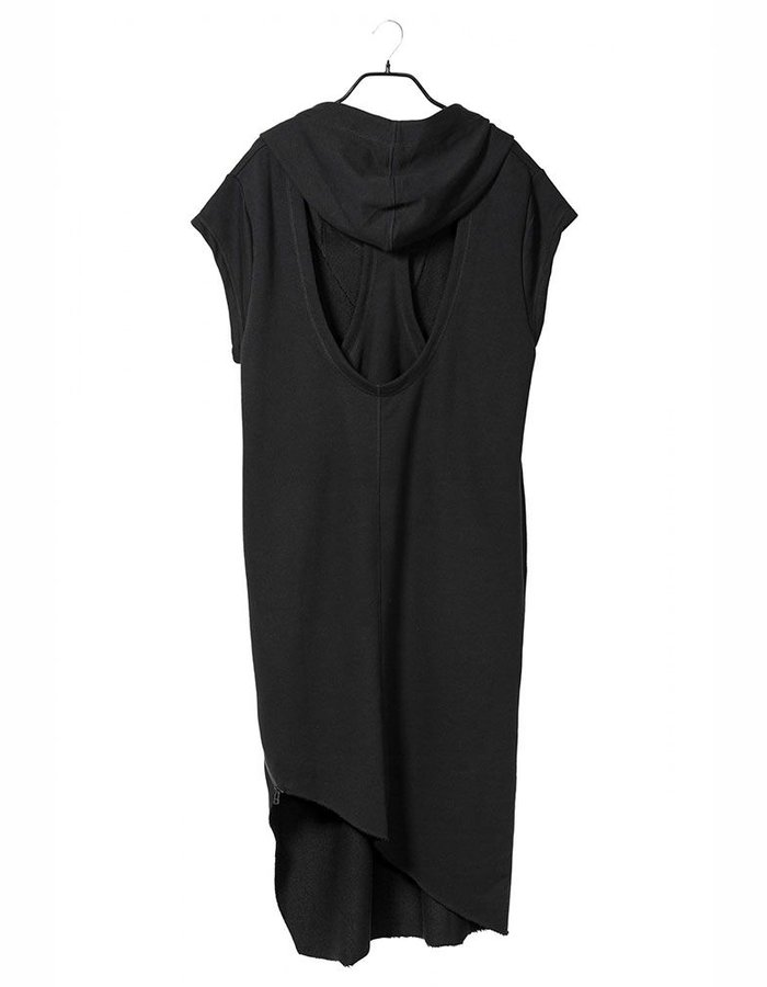 BARBARA I GONGINI OPEN BACK HOODED DRESS