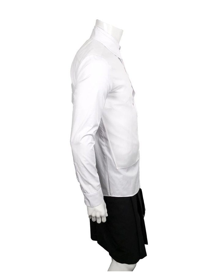 D.GNAK FRONT LAYERED SHIRT -WHITE