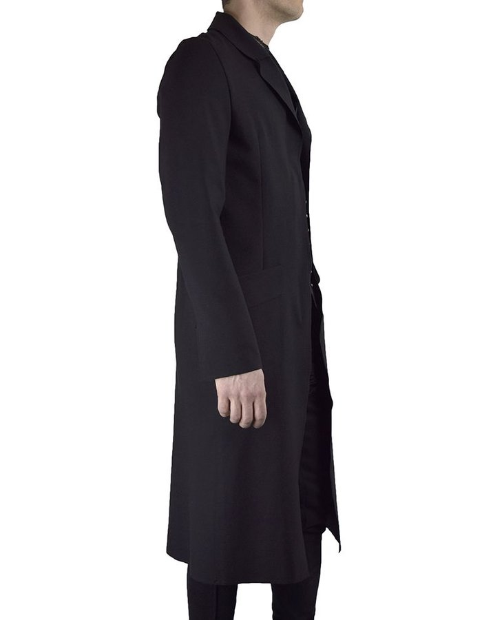 DAVID'S ROAD LONG SLEEVE BLAZER WITH LEATHER DETAIL LONG
