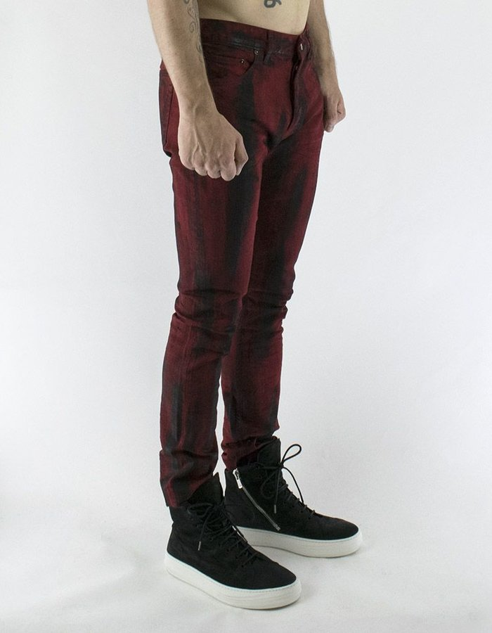 FAGASSENT BRUSHED RED BLACK JEAN