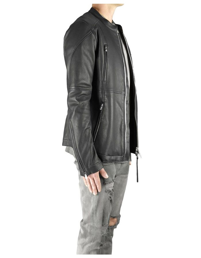 FAGASSENT DEER SKIN BIKER JACKET WITH ZIP BACK
