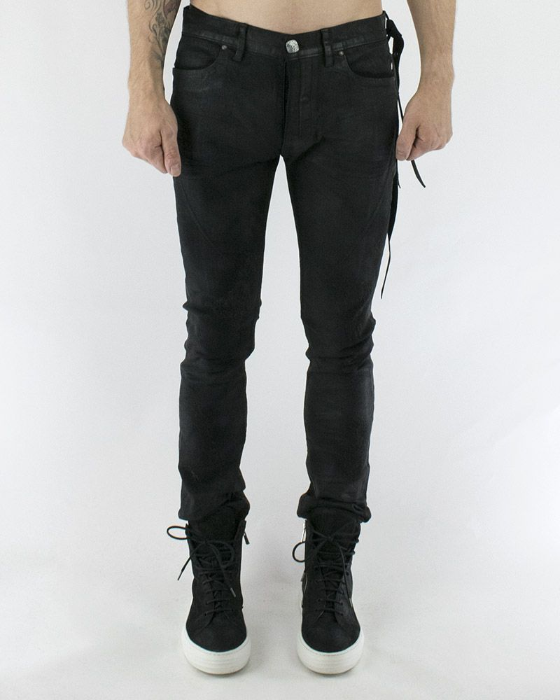 SECOND SKIN COATED JEANS
