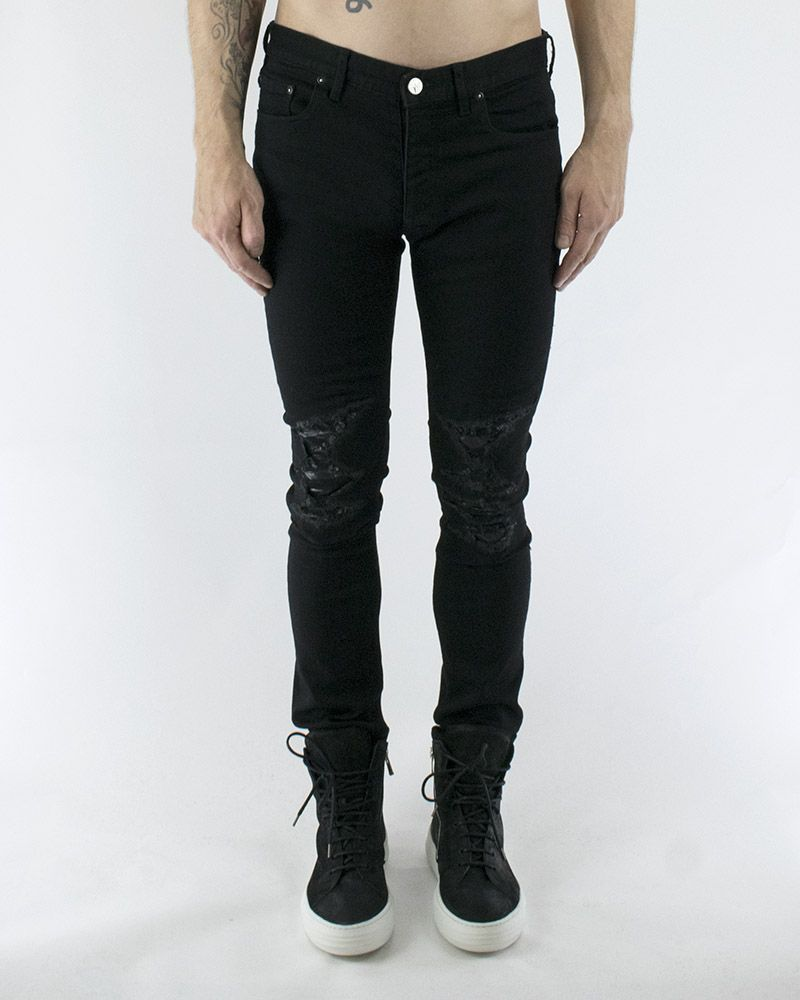OST JEANS WITH LEATHER INSERT