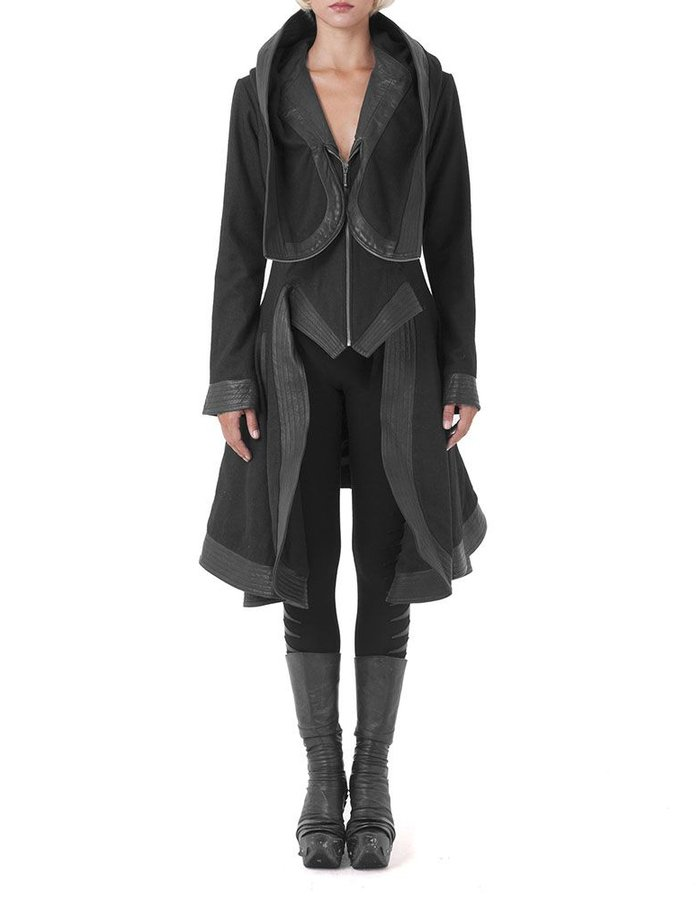 GELAREH DESIGNS CROCODILE COAT
