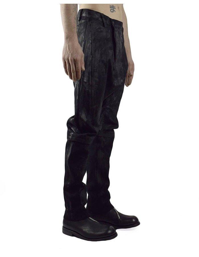 JOE CHIA MEN'S WOVEN PAINTED CURVE PANTS