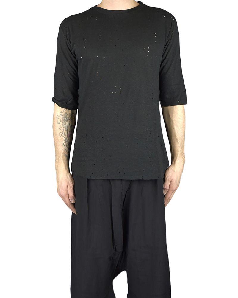 VINTAGE LONG T-SHIRT:BLK