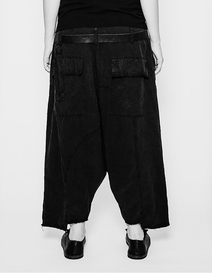 PAL OFFNER DOUBLE BELTED TROUSER