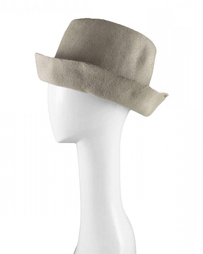 ARTISTA WOOL HAT -BEIGE WAXED
