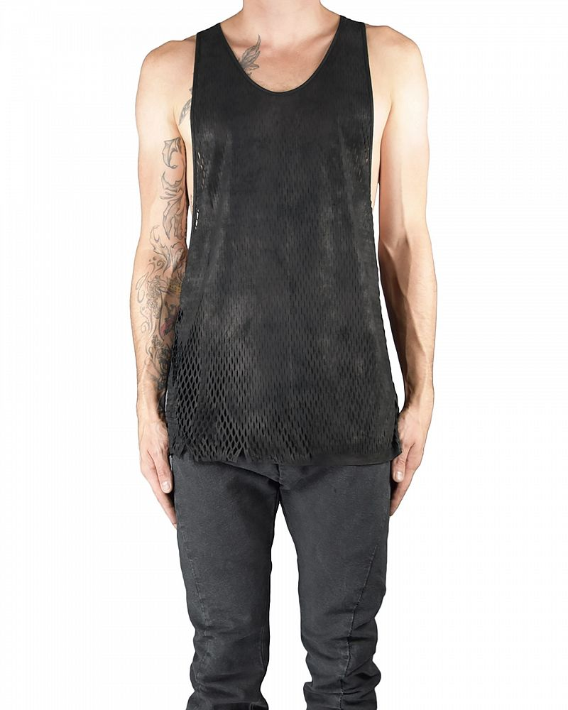 OPEN SIDED LEATHER SLICED TANK