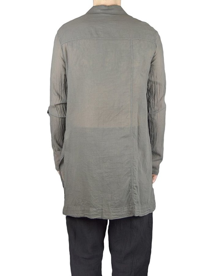 LOST AND FOUND ROOMS COTTON GAUZE 1 POCKET SHIRT COAL