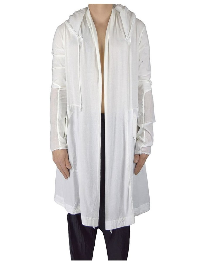 LOST AND FOUND COTTON HOODED PARKA WHITE