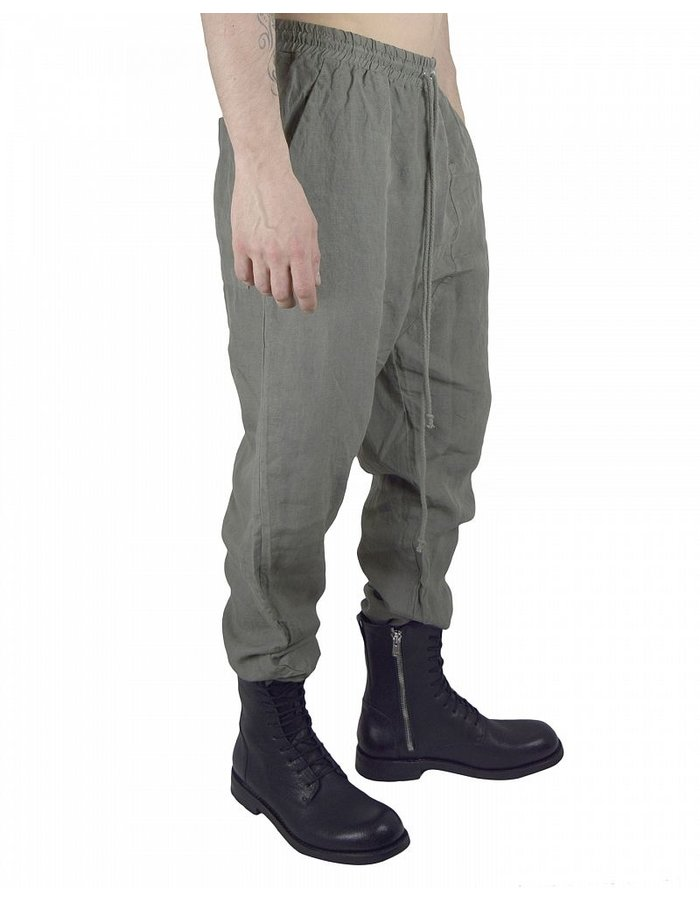 LOST AND FOUND ROOMS LINEN EASY PANT : SAGE