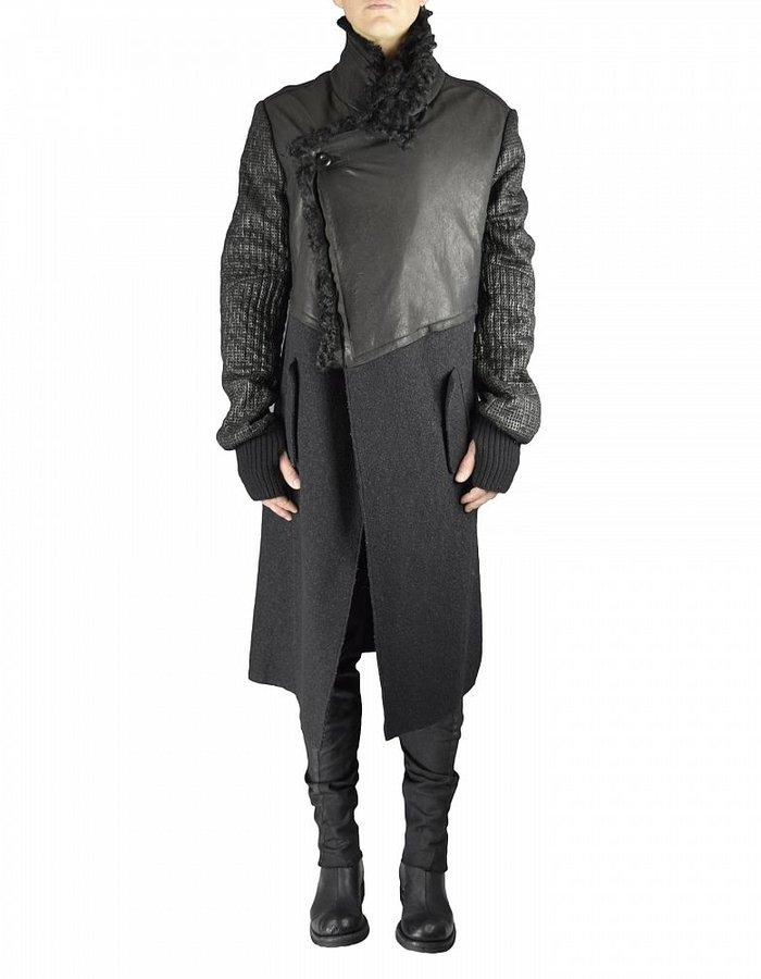 LOST AND FOUND LONG  SHEARLING COAT