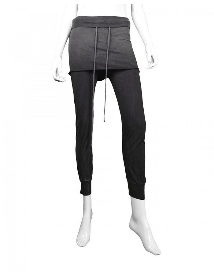 LOST AND FOUND ROOMS SKIRTED LEGGINGS COLD BLACK