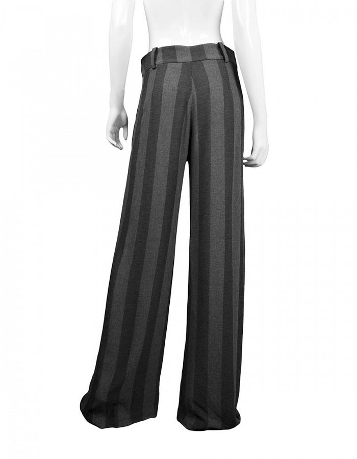 LOST AND FOUND STRIPED WIDE LEG PANT