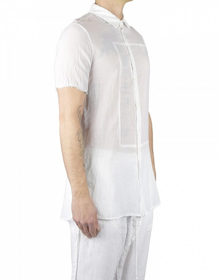 LOST AND FOUND ROOMS SUPERFINE COTTON  GAUZE SHIRT WHITE