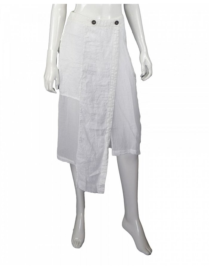 LOST AND FOUND ROOMS WHITE LINEN SKIRT