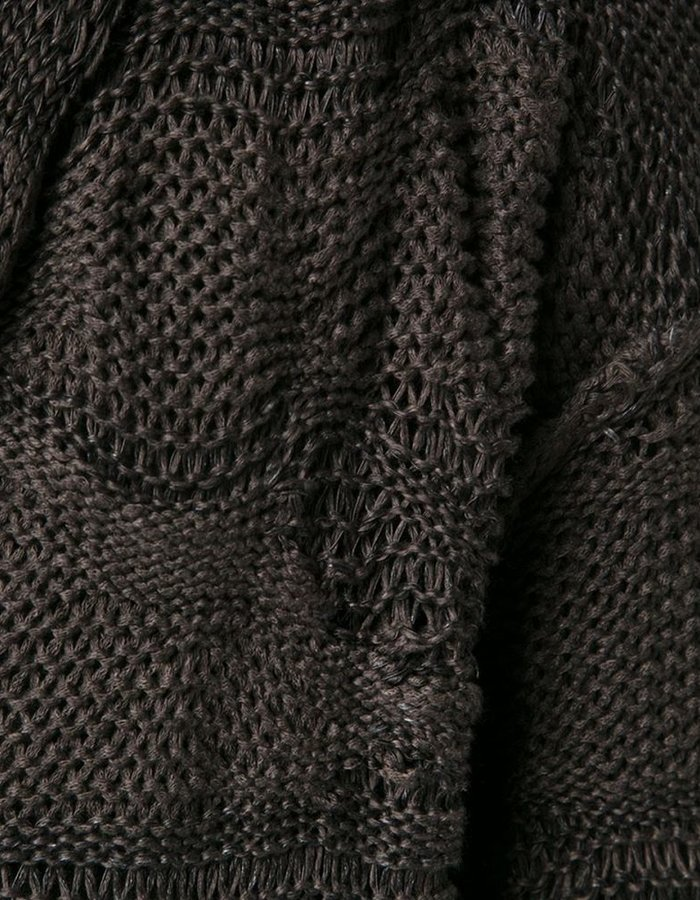 ISABEL BENENATO HEAVY KNIT CARDIGAN -BLACK