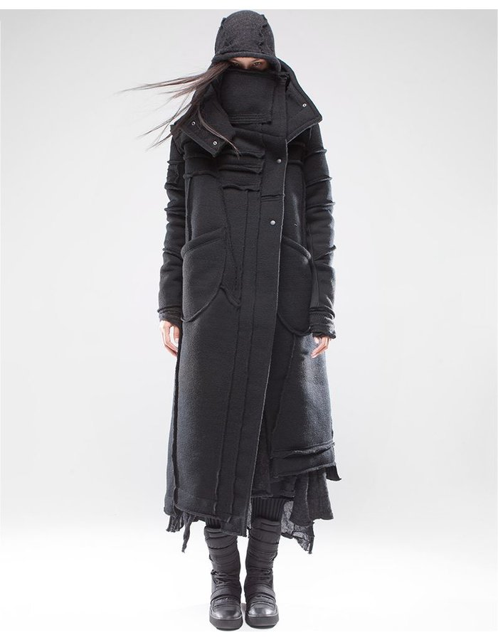 DEMOBAZA OVERCOAT BLACK SHEPHERD W