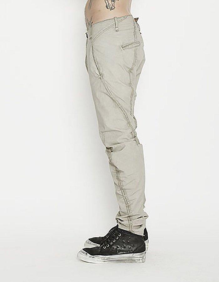 MASNADA CURVED LEG PAPER POPELINE PANTS