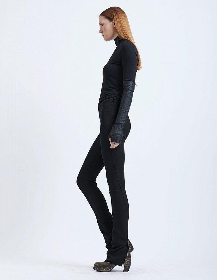 MASNADA HIGH WAISTED SPLIT LEGGING BLACK