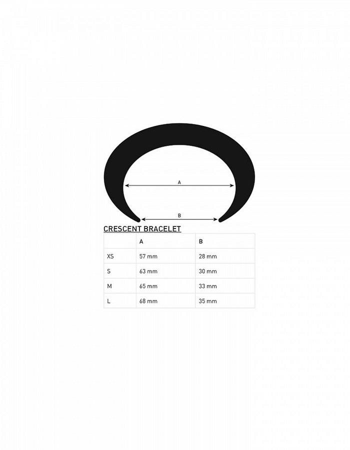 PARTS OF 4 CRECENT BASIC BRACELET MATT STERLING SILVER