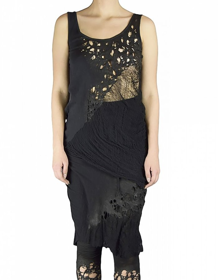 SANDRINE PHILIPPE DEKNITTED TOP WITH FLAMED FINISH