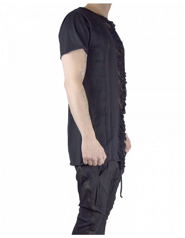 SANDRINE PHILIPPE SHORT SLEEVE EMBROIDERED T-SHIRT
