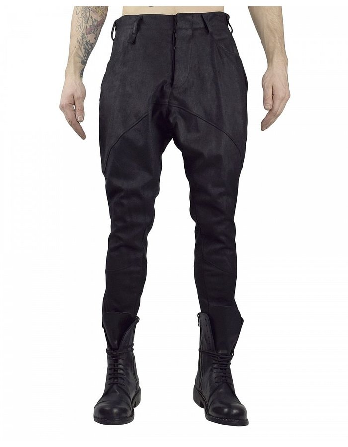 NOSTRA SANTISSIMA LAGHI  STRETCH LEATHER PANTS