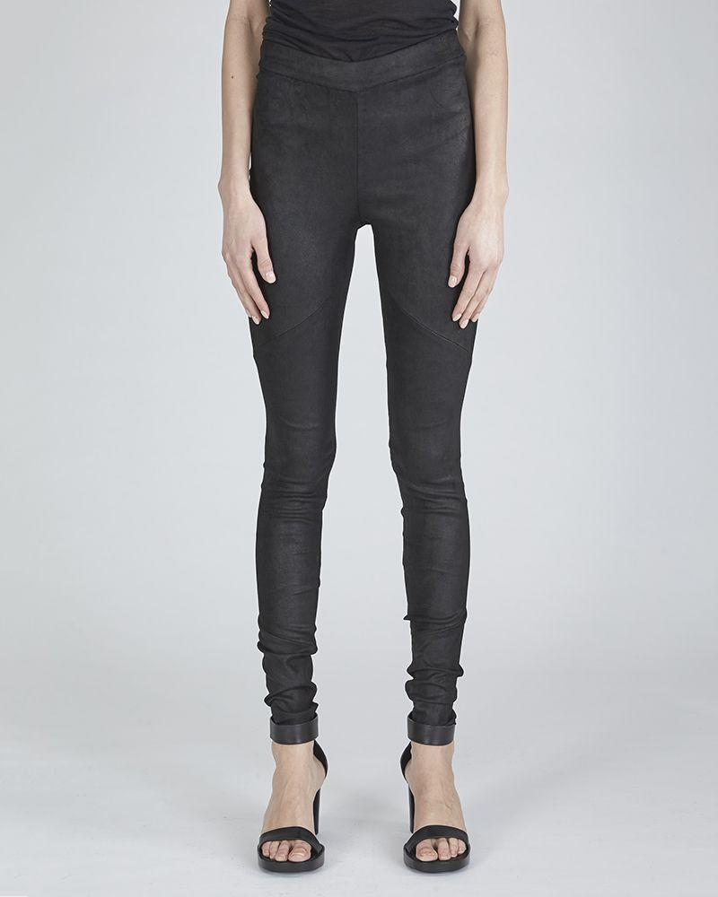 LEATHER STRETCH TROUSERS