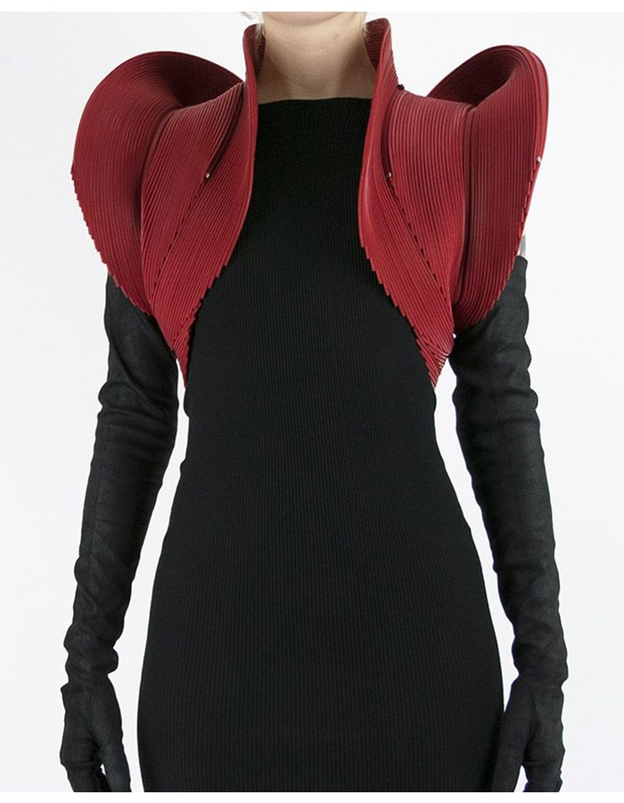 AUTUMN LIN HEART ZIPPER BOLERO