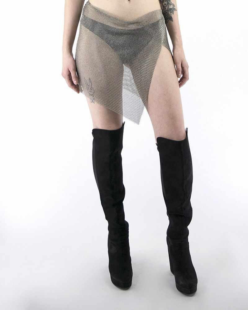 METAL RING MESH SKIRT