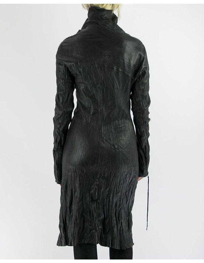 SANDRINE PHILIPPE LONG WASHED LEATHER JACKET