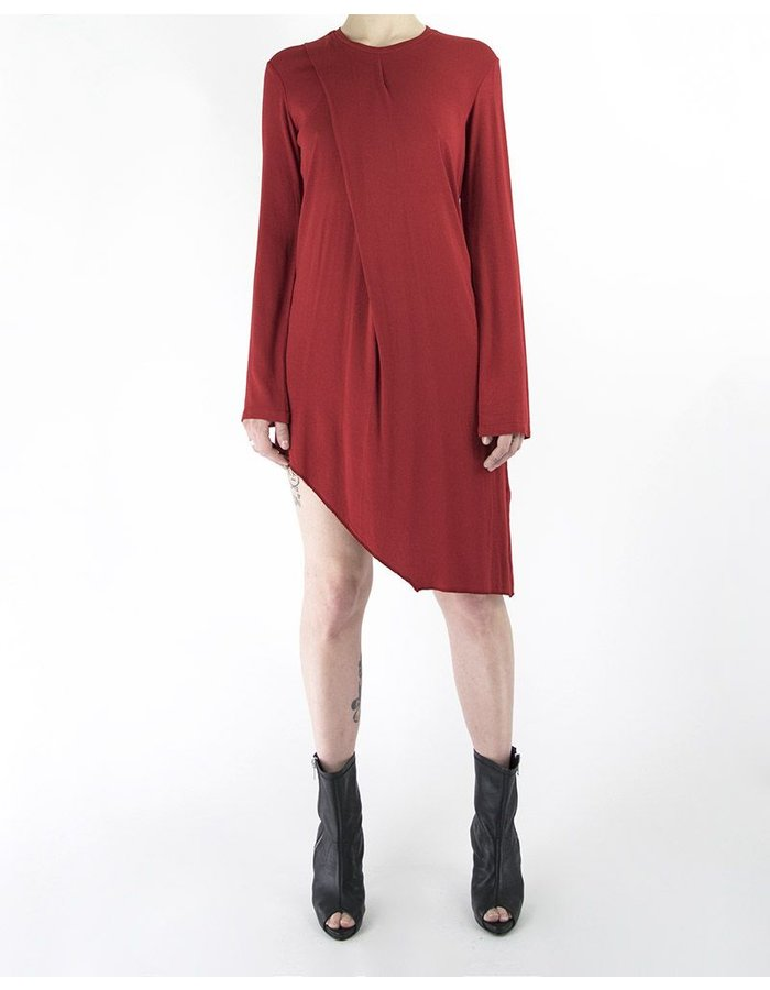 LOST AND FOUND ROOMS ASYMMETRIC PLEATED TUNIC