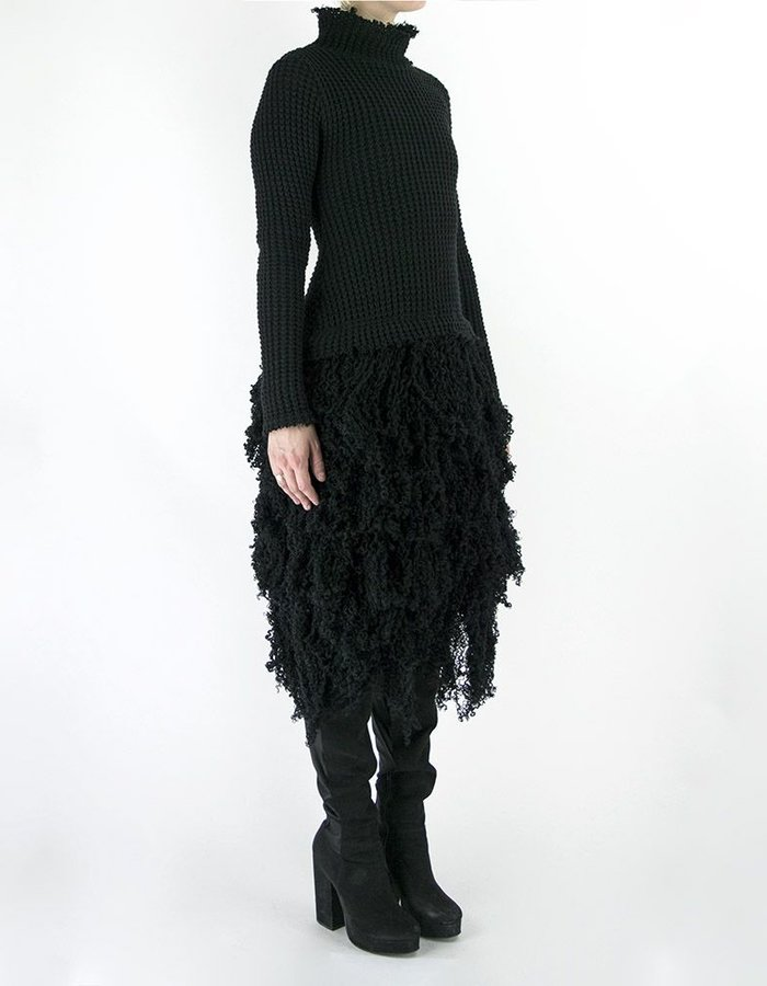 DAVID'S ROAD KNITTED DRESS WITH FRINGES