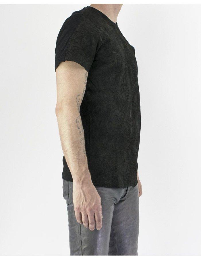 M-OJO RISIN' LEATHER T-SHIRT - ORANGO