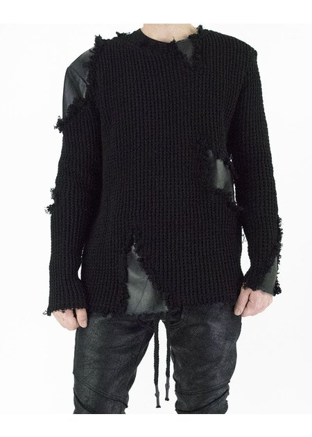 DAVID'S ROAD KNITTED SWEATER WITH LEATHER