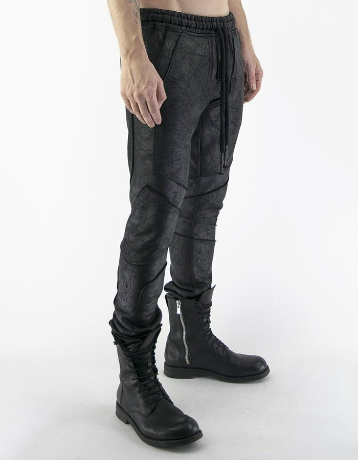 DAVID'S ROAD DETAILED LEGGINGS LEATHER EFFECT