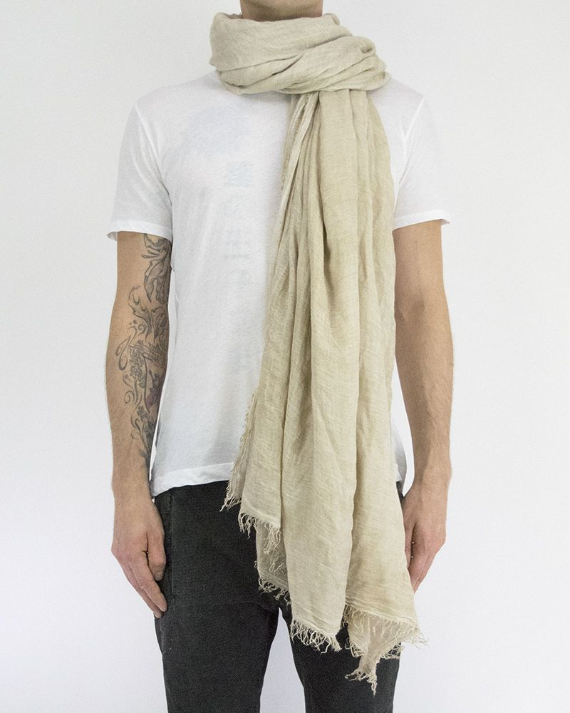 MODAL AND CAMEL STOLE - BEIGE