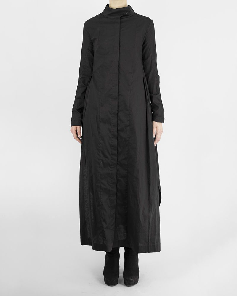 WRAP COLLAR SHIRT DRESS